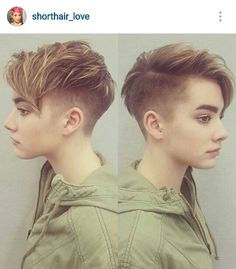 40 Best Short Pixie Cut Hairstyles 2019 - Cute Pixie Haircuts for Women - - Short Hairstyles - Hairstyles 2019 Are Women's pixie cuts in for Definitely! The short pixie hairdo is as yet hot and getting one is the ideal method to emerge from the group. Tomboy Hairstyles, Pixie Hairstyles, Short Hairstyles For Women, Cool Hairstyles, Hairstyles 2016, Tomboy Haircut, Fringe Hairstyles, Hairstyle Ideas, Lesbian Hair