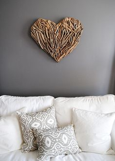 Awesome driftwood heart ~ It's a TJ Maxx find, but I'm sure I can DIY it!