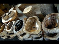 Petrified Wood Bathroom Sink - YouTube