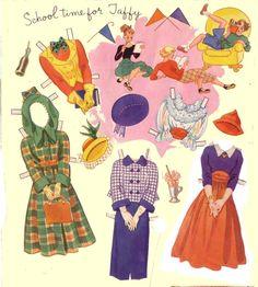 THE GANG Paper Dolls by Hilda Miloche