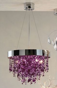 Domestic Sluttery: Chandelier Time: Purple Crystal Drops at Next Home