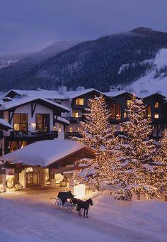 To evoke the feeling of a brisk alpine Christmas, nestled inside a warm lodge.
