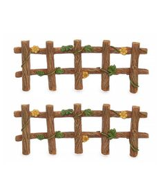 Another great find on #zulily! Two-Piece Ivy Fence Figurine Set #zulilyfinds