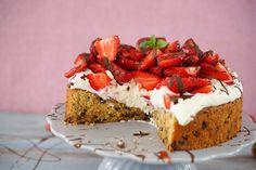 Sallys Rezepte - Cookie-Torte mit Erdbeer-Topping / einfach & genial