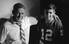 Bear Bryant and his star quarterback, Joe Namath, after Orange Bowl in Miami, Fla., on Jan. 1, 1965. (Robert Houston/AP)