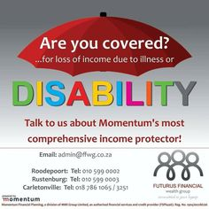 Are you covered?  #futurusfinancial #committedtoyourlegacy #incomeprotectors #disabilitycover #getcover Our Legacy, Financial Planner, Disability, Cover