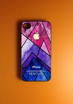 Geometric Iphone 4 Case - Colorful Pattern Iphone Case, Iphone 4s Case. $14.99, via Etsy.