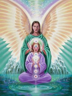 Archangel Raphael, the healer. having healing sessions by me and healers done with the assistance of angels and archangels for these women at the retreat I Believe In Angels, Ange Demon, Ascended Masters, Angels Among Us, Angel Cards, Guardian Angels, Love And Light, Sacred Geometry, Prayers