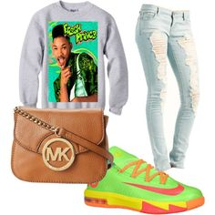"""Fresh prince"" by polkcasside on Polyvore cheap KD 6 only $57., save up to 65% off for all #Nikes #Shoes"