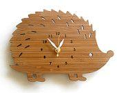 Wall Clock - Modern hedgehog with numbers