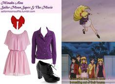 Like Sailor Moon Outfits on Facebook! ModCloth Purpurite Ceramics dress ModCloth Unpredictable Ending heel Delias snap front coat in Purple Luna Bowtique Senshi bow in Red