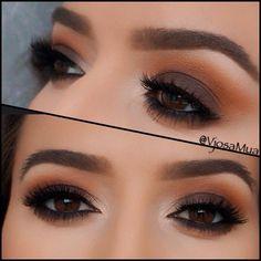 Brown Smokey Eyeshadow.