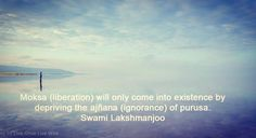"""The nature of Ignorance (#Tantraloka verse 2230) """"In this world of spirituality everywhere in each and every sastra it is sung that #ignorance is the cause of repeated births and deaths and knowledge is the cause of liberation from it. This I have not explained from my mind. It is explained by Siva in #tantra."""" Swami Lakshmanjoo #KashmirShaivism for more ready our blog link in profile"""