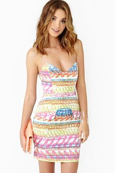 Reef Peplum Dress on nasty gal. Such a pretty dress for for summer, especially with the pastel colors