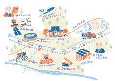 調布市_デカ盛りのまち調布_パンフレット地図