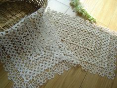 """Unique Handmade Tatted Lace Tray Cloth/doily-white by Victoria's Deco. Save 24 Off!. $12.99. color :white. 100% cotton. Size:12""""x18"""". England style and complax hand tatted lace.A value collecton it is! There is less and less person who can make it today because more and more industrialized products come into market. This could be a good heirloom for your family.The market value is $29up. I have these for some time and haven't decide to put it in my store. It is like my value tre..."""