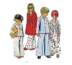 Toddler Pajama Pattern ROBE And PAJAMAS Two Piece by HoneymoonBus, $7.99
