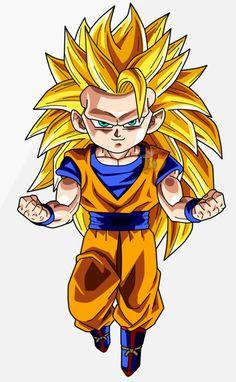 See the source image Chibi Superhero, Chibi Marvel, Chibi Goku, Anime Chibi, Ssj3, Art Anime, Dragon Ball Gt, Deviantart, Dbz Drawings