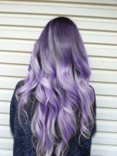 Silver purple hair.