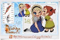 Elsa and Anna - Frozen pattern by Carina Cassol
