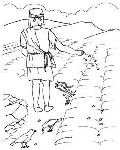 the parable of the sower coloring page parabola de la cizana y el trigo