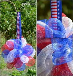 mesh ribbon kissing ball by peckled