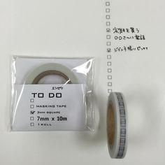 Pinterest// Ijackson666 // To-Do List Washi Tape - Black Pencil 3.0mm