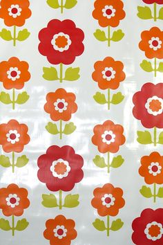 Retro Wallpaper by the Yard 70s Vintage by RetroWallpaper on Etsy