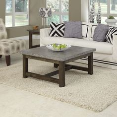 Add an urban edge to any eclectic decor by using Home Styles Concrete Chic Square Coffee Table. It is an ideal choice for indoor and outdoor usage. Concrete Coffee Table, Cool Coffee Tables, Coffee Table Design, Modern Coffee Tables, Patio Furniture Sets, Living Room Furniture, Furniture Outlet, Online Furniture, Furniture Decor