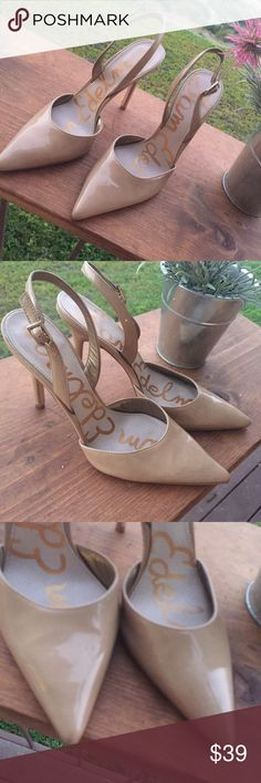Sam Edelman neutral 9.5 heels Beautiful 9.5 heels. Good condition with still lots of life. Great for work or play Sam Edelman Shoes Heels