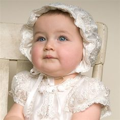 Penelope Silk Christening Bonnet