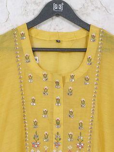 Mustard yellow hued casual wear cotton kurti - G3-WKU6642 | G3fashion.com