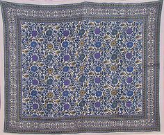 Lavender Blue Riviera Floral Mosaic Tapestry All Sizes Throw Cover Bed Decor | eBay4 $34.95