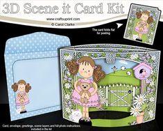 3D Girlz Zoe's Teddy Scene it Card Kit
