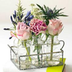 Bloom Bottles * Vintage Style Pink Bloom Bottles | Flower Studio Shop