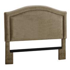 Amazon.com - Dorel Asia Upholstered Headboard with Nailheads, King, Stone -