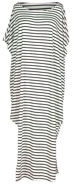 Look fabulous in this Stripe Casual Dress. The elegant & casual style has a comfy experience and sides split for a stylish look. Fashion girl is you here & there,baby.