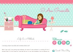 Graecille Personal Woman Blog Design | Free Blogger Template, Blogger Widgets,Vector, Icon, Design Resources,Design Inspiration