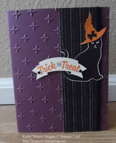 Halloween Card made with Stampin' Up!'s Spooky Cat Stamp Set and Cat Punch.  For details, go to my Monday, September 4, 2017, blog at http://www.stampinup.net/blog/2130686/entry/sept_4