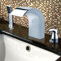 Chrome Finish Contemporary-tyyli Stainless Steel Laaja bathroom sink hanat Handheld Hana – EUR € 154.54