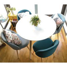 Table à manger ronde blanche 4 personnes D90 | Maisons du Monde
