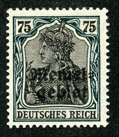 "Memel  1920 Scott 11 75pf green & black Overprinted ""Memelgebiet"""