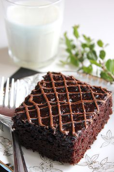 Eggless Nutella Chocolate Cake -- only 148 calories!