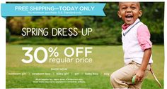 Gymboree Free Shipping Today Only and Save 30% off Spring Styles - http://slickhousewives.com/gymboree-free-shipping-today-save-30-spring-styles/ -  Today only! Free shipping at Gymboree! No minimum purchase required. PLUS you can save 30% off Spring Styles at Gymboree and also earn $25 Gymbucks for every $50 that you spend.