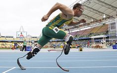inspiring! Oscar Pistorius: The athlete lost his legs when he was 11 months-old and now he's recently been chosen to represent South Africa in two track events at the London Olympics. He'll be the first amputee track athlete to compete at any games.