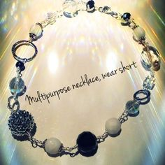 multipurpose chain necklace shown short