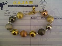 18k Black, Rose, White & Yellow Gold Balls Dior Bracelet