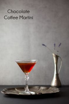 Chocolate Coffee Martini - dessert and drink all in one delicious cocktail.
