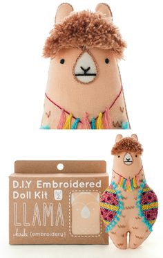 Learn to sew a llama with this DIY embroidery kit!