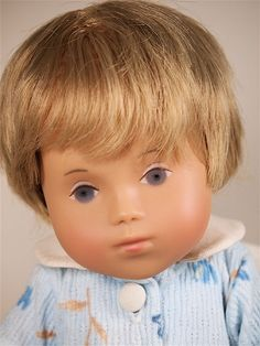 """Close up of 12"""" vinyl Stine doll, one of the later interpretations of the Sasha Baby concept, Germany, 2000, by Götz."""